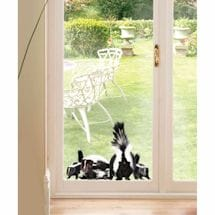 Skunk Family Window Cling