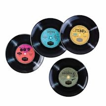 Vinyl Greatest Hits Dinnerware - 45S Plate Set Of 4