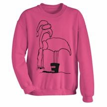 Frosty Flamingo Crew Sweatshirt