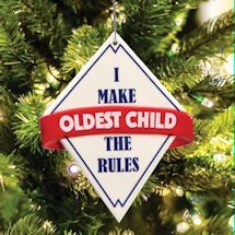 The Rules Ornaments - Oldest Child