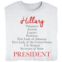 Hillary: Road to President - Pro Clinton Presidential Election T-shirt