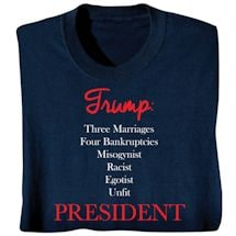 Trump: Unfit President - Funny 2016 Election T-shirt