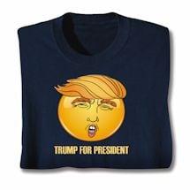 Trump for President Emoji Face Shirt