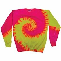 Tie-Dye Crew Fleece Sweatshirts - Pink