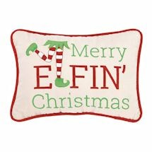 Merry Elfin' Christmas Pillow