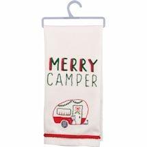 Merry Camper Dishtowel