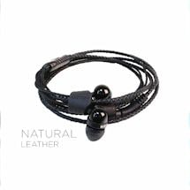 Wraps Headphones- Black Leather
