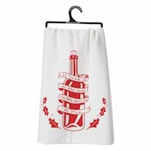 Clever Christmas Wine Dish Towels- Have Wine