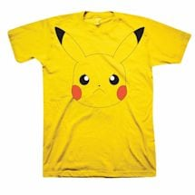 Pokemon Angry Pikachu Face Yellow T-Shirt