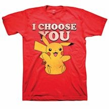 "Pokemon Pikachu ""I Choose You"" Smiley Red T-Shirt"