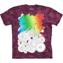 Color Yourself Tee- Flowers
