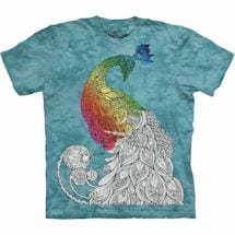 Color Yourself Tee- Peacock