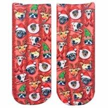 Christmas Puppies Crew Socks
