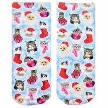 Christmas Kitties Crew Socks