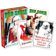 Licensed Playing Cards Bad Santa