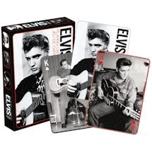 Licensed Playing Cards Elvis Black & White