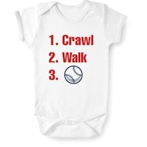 Crawl, Walk, Sports Snapsuit