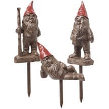 Cast Iron Gnome Garden Stakes