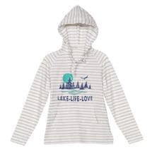 Lake Life Love Ladies' Stripe Hoodie
