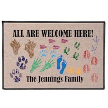 Personalized Footprints Doormat