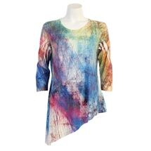 Watercolor Lines Asymmetrical Tunic