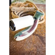 Wooden Fish Wine Bottle Holder