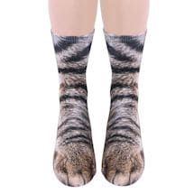 Sublimated Paw Crew Socks - Cat