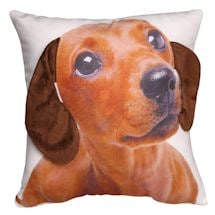 Floppy Ears Dachshund Printed Pillow