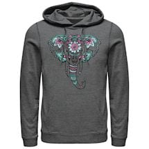 Artsy Elephant Ladies' Hoodies - Light Gray