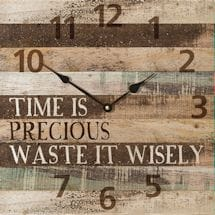Time Is Precious Clock