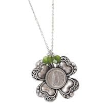 Irish Threepence Four-Leaf Clover Pendant
