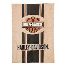 Harley Davidson® Burlap Garden Flag