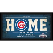 Chicago Cubs World Series Home Sweet Home Framed Sign