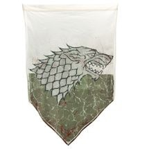 Game Of Thrones Battle Worn Banner - House Of Stark