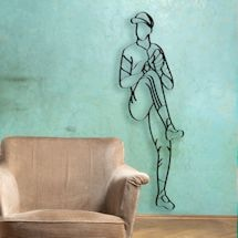 Baseball Player Metal Wall Art - Pitcher