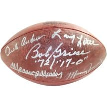 1972 Dolphins 5 Signature NFL Duke Football (signed and Inscribe by Griese/Fernandez/Morris/Little/Anderson)