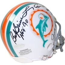 1972 Dolphins 6 Signature Mini Helmet (Signed and inscribed by Csonka /Griese/Fernandez/Morris/Little/Anderson)