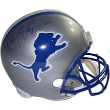 Barry Sanders Signed Detroit Lions Riddell Full Size Replica Throwback 83-02 Helmet