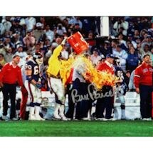 Bill Parcells Signed 1986 Giants Super Bowl Gatorade Celebration 8X10
