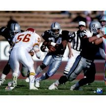 Bo Jackson Signed Rushing Against Chiefs Horizontal 16x20 Photo