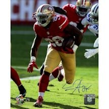 Carlos Hyde Signed 49ers Action 8x10 Photo
