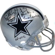 Charles Haley Stat Inscription Cowboys Mini Helmet