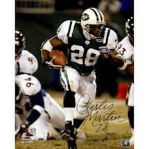 Curtis Martin Signed Run vs. Broncos 16x20 Photo