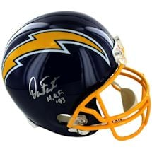 Dan Fouts Signed San Diego Chargers Replica Throwback 74-87 Helmet w/HOF 93 Inscription