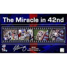 "Eli Manning Signed Giants ""The Miracle in 42nd"" Filmstrip Collage 10x17 Photo"