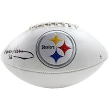 Franco Harris Signed Pittsburgh Steelers White Panel Jarden Signature Football