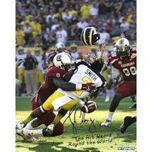 "Jadeveon Clowney Hit vs. Michigan Signed 8x10 Photo w/ ""The Hit Heard Round The World"" Insc."