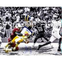 Jadeveon Clowney Hit vs. Michigan Signed BW 16x20 Photo w/ Color Accents