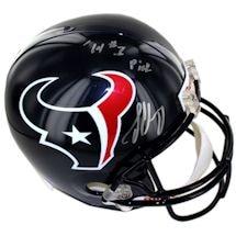 "Jadeveon Clowney Signed Houston Texans Replica Helmet w/ ""'14 #1 Pick"" Inscription"