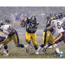Jerome Bettis Pittsburgh Steelers Signed Rushing in Snow 16x20 Photo (AJ Sports Auth)